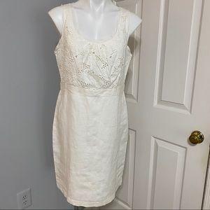 Ann Taylor Loft Cotton/ Linen Sleeveless Dress- 12
